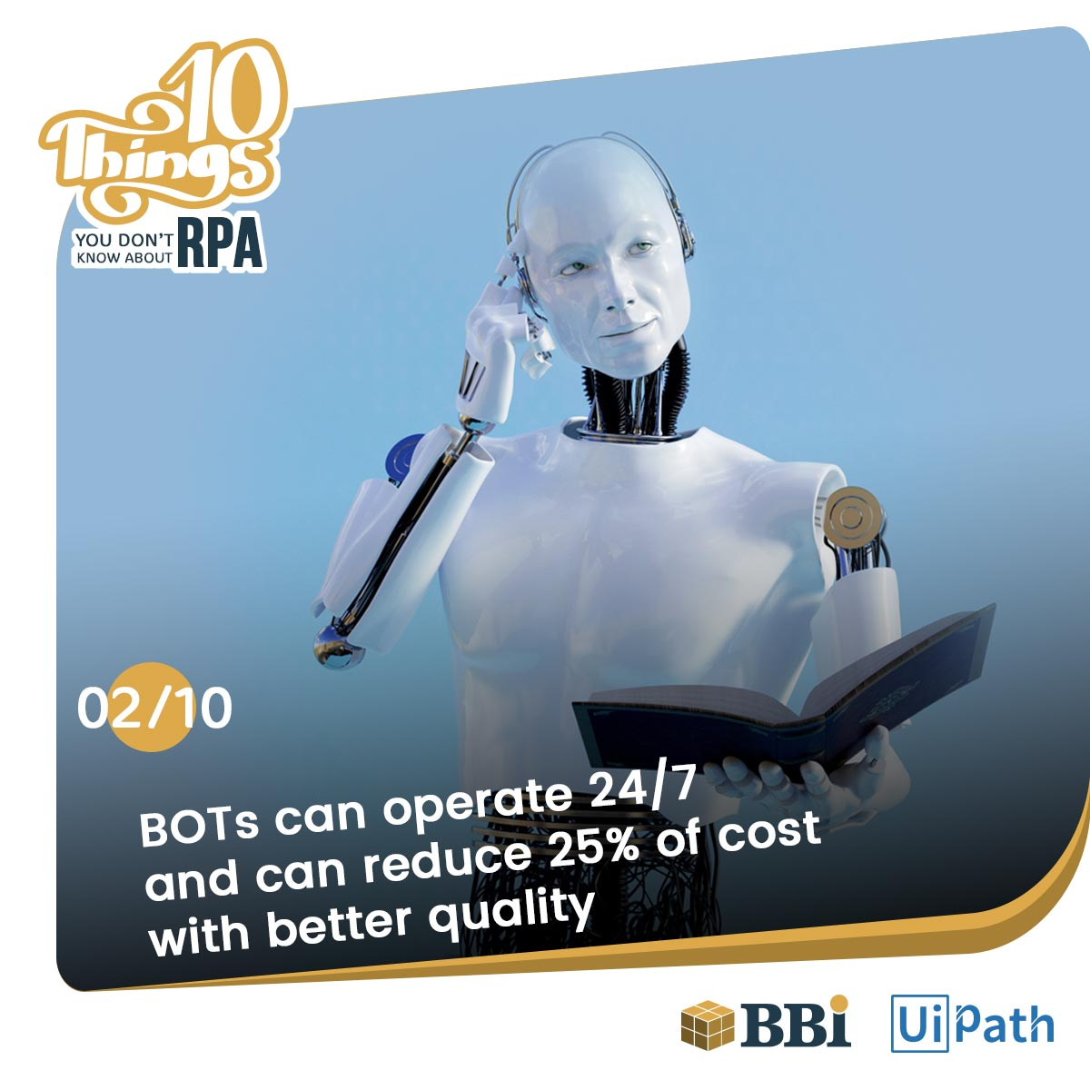 RPA Software Bots reduce cost