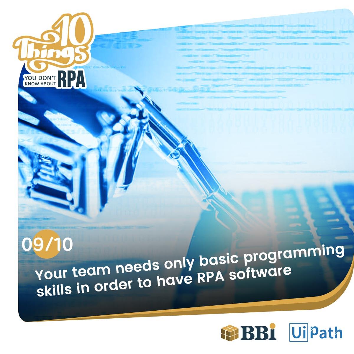 RPA software bots basic Programming Skills